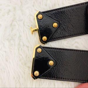 Escada Accessories - ESCADA Black and Gold Italian belt